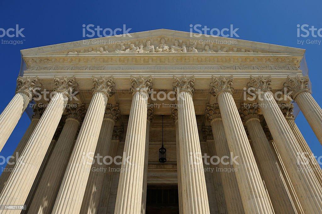 US Supreme Court Building, Washington, DC royalty-free stock photo