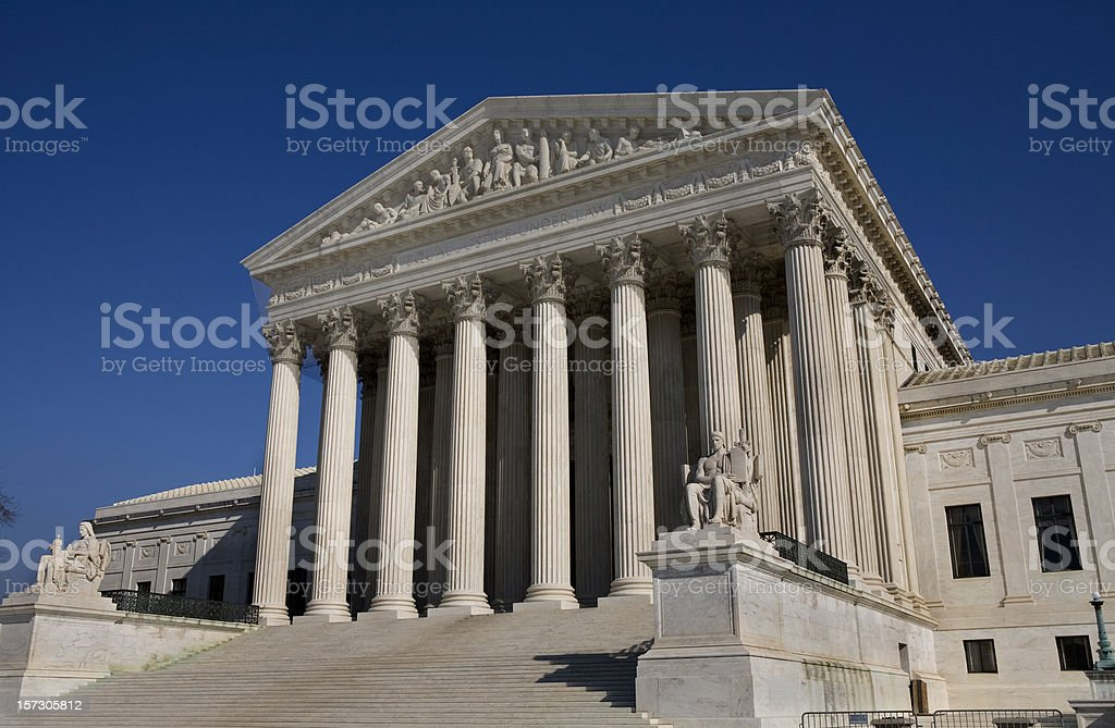 US Supreme Court Building Washington DC royalty-free stock photo