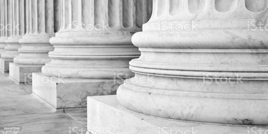 Supreme Court Building Washington DC stock photo