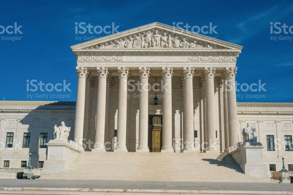 Supreme Court Building, Washington, DC, USA stock photo