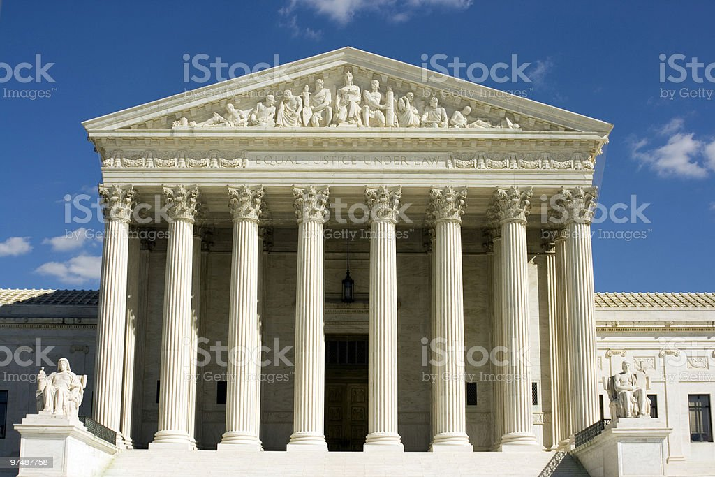 Supreme Court by day royalty-free stock photo