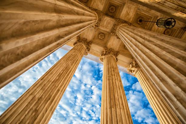 Supreme Court Columns stock photo