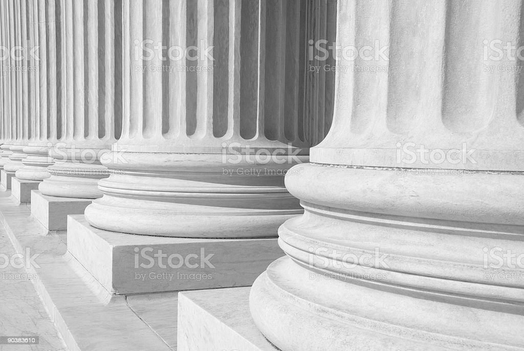 US Supreme Court - Columns stock photo