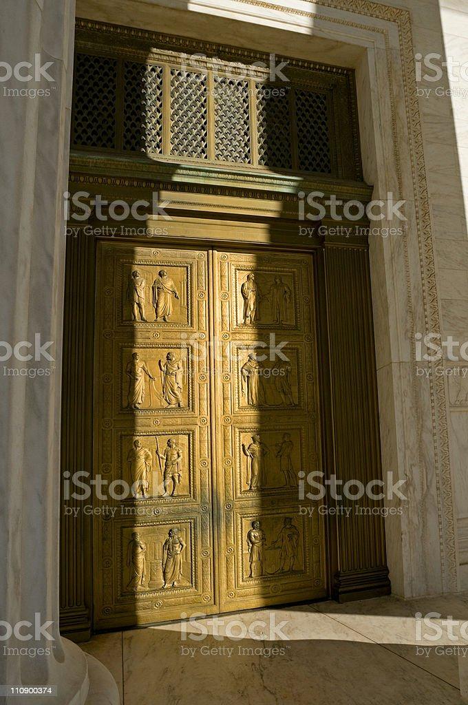 US Supreme Court Doors royalty-free stock photo