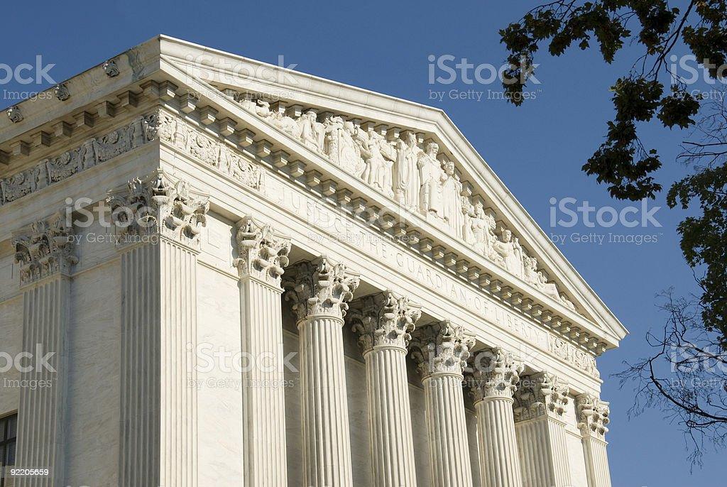 US Supreme Court - Eastern Facade stock photo