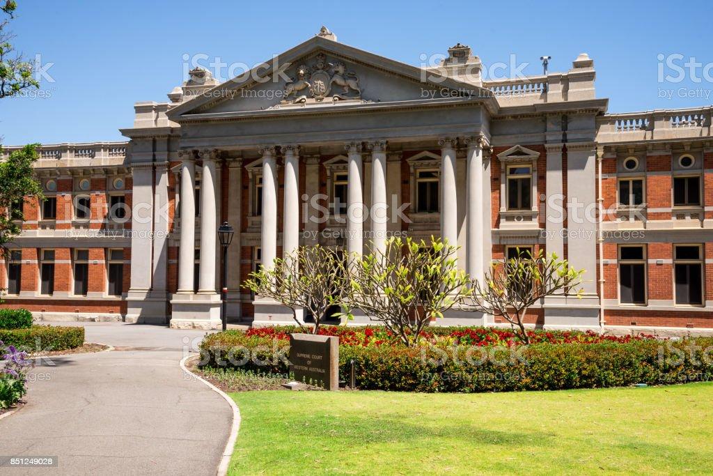 Supreme Court historic building in Perth city, Western Australia stock photo