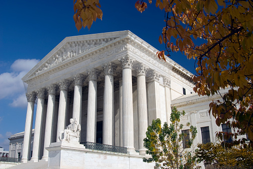 Us Supreme Court In The Fall Stock Photo - Download Image Now
