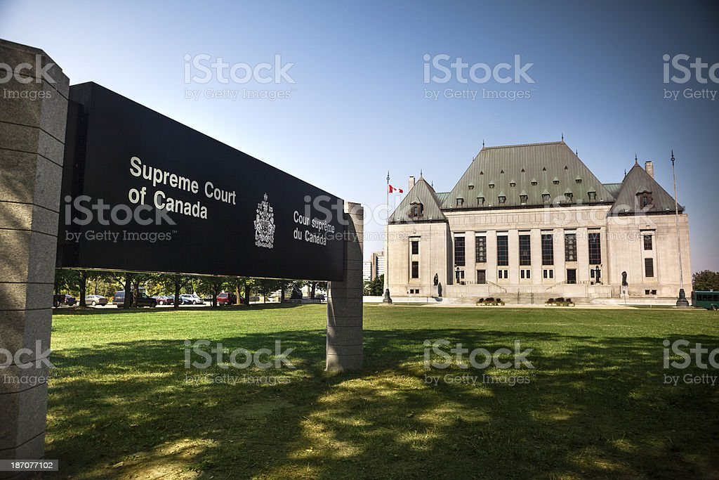 Supreme Court of Canada, Ottawa, Ontario stock photo