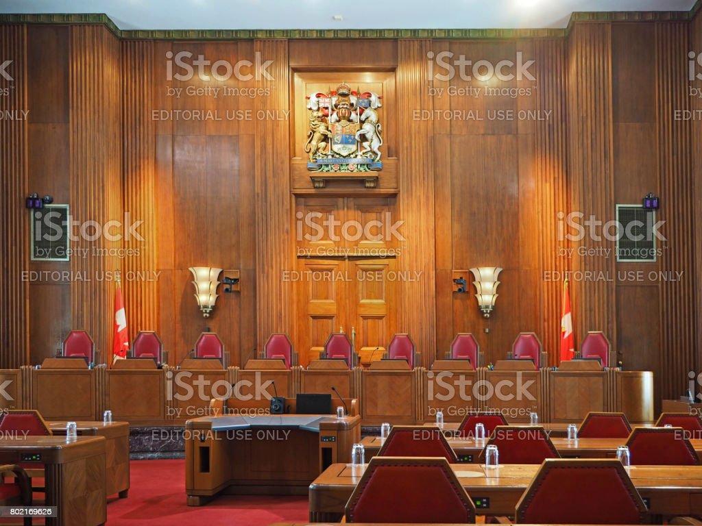 Supreme Court of Canada, Ottawa stock photo