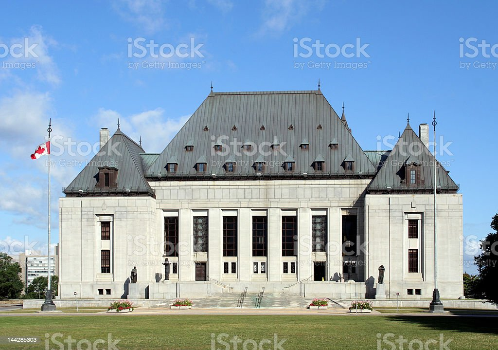 Supreme Court of Canada royalty-free stock photo