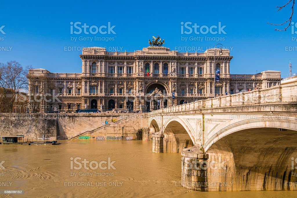 Supreme Court of Cassation in Rome, Italy stock photo