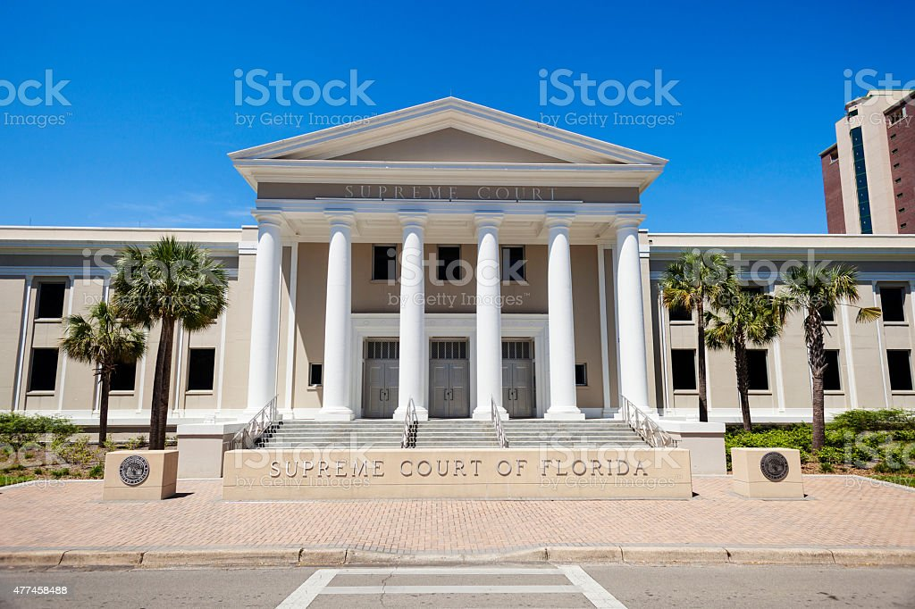 Supreme Court Of Florida In Tallahassee stock photo
