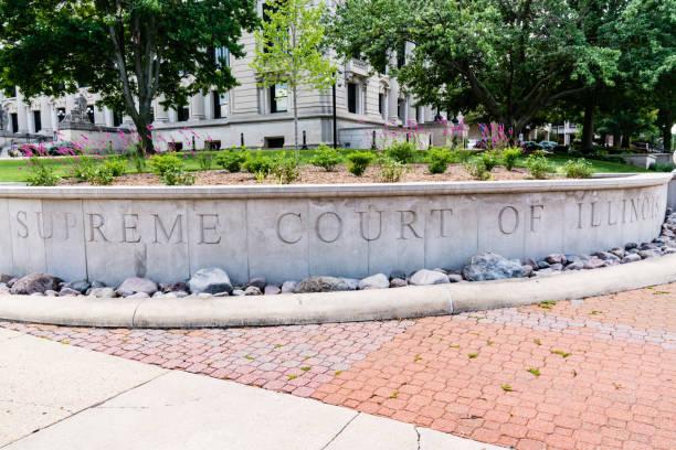 Supreme Court of Illinois stock photo