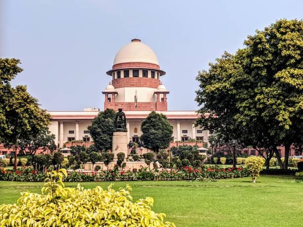 yeni delhi hindistan binası yüksek mahkemesi binası, hindistan - anayasa mahkemesi stok fotoğraflar ve resimler