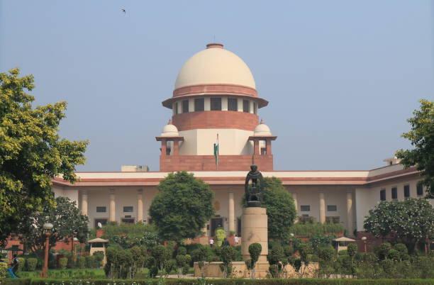 Supreme Court of India New Delhi stock photo
