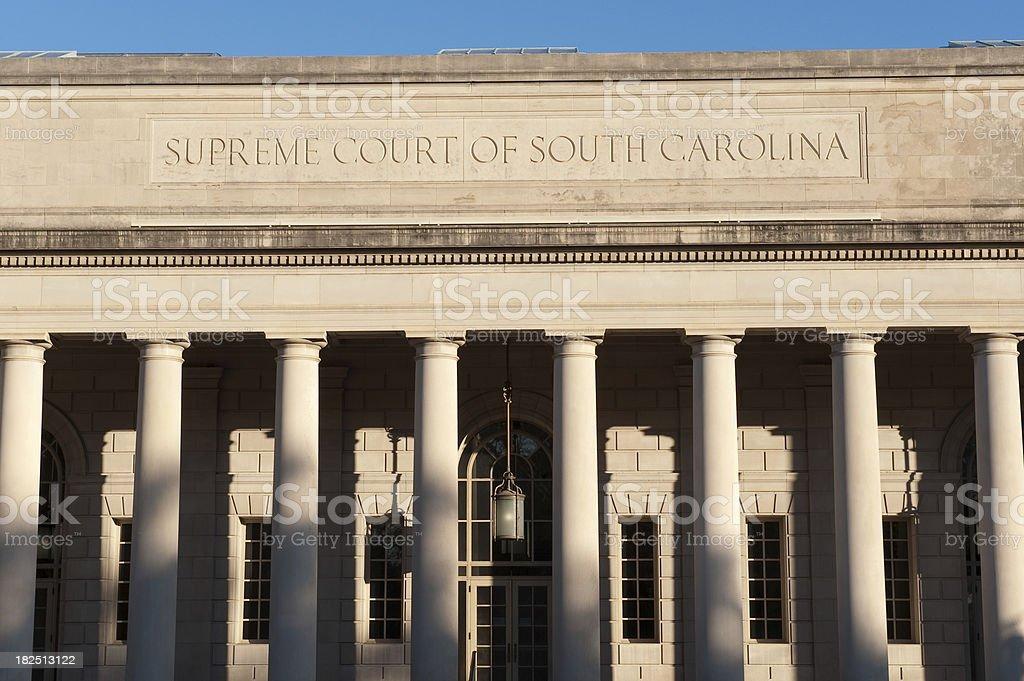 Supreme Court of South Carolina royalty-free stock photo