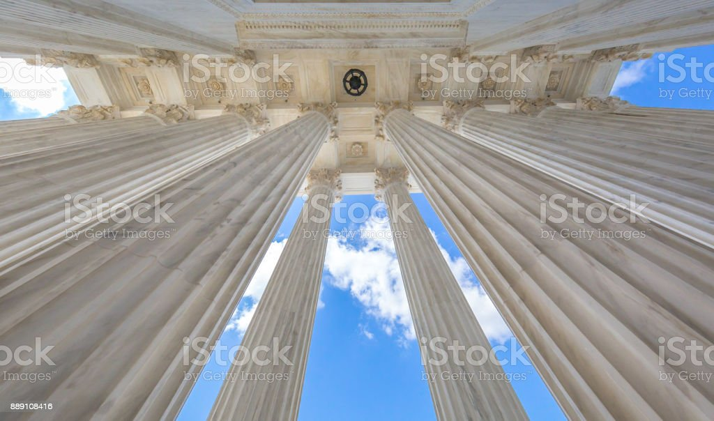 Supreme Court of the United States Columns in Washington, DC stock photo