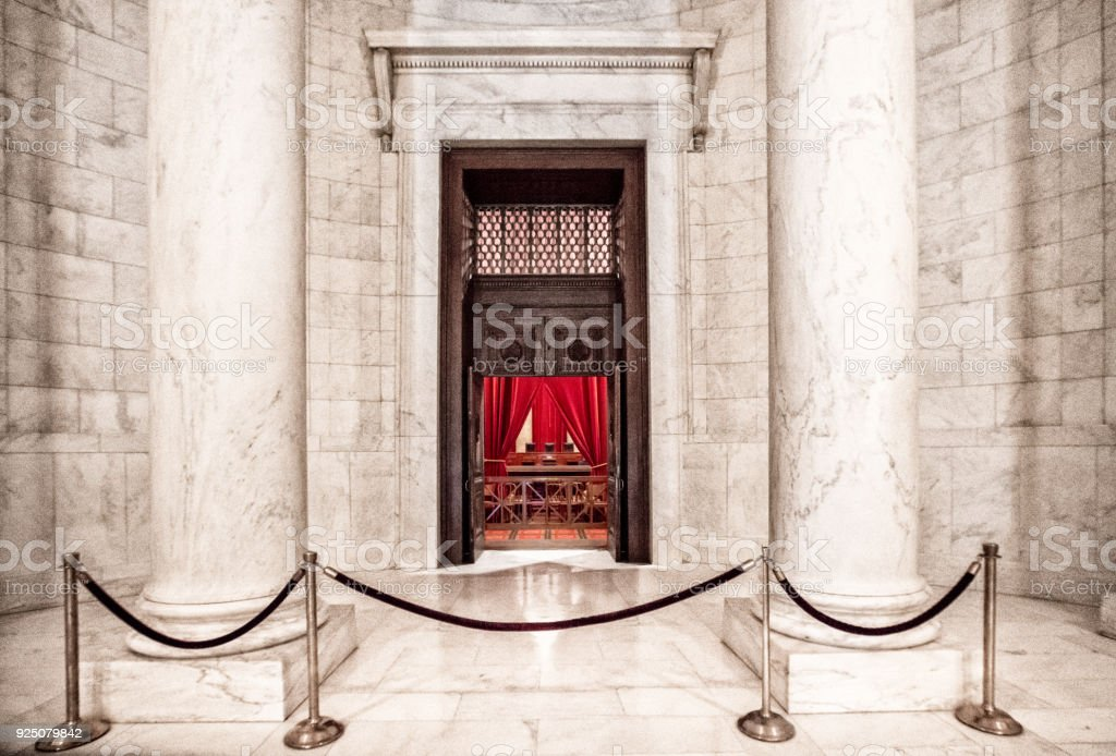 Supreme Court of the United States Entry to Chamber in Washington, DC stock photo