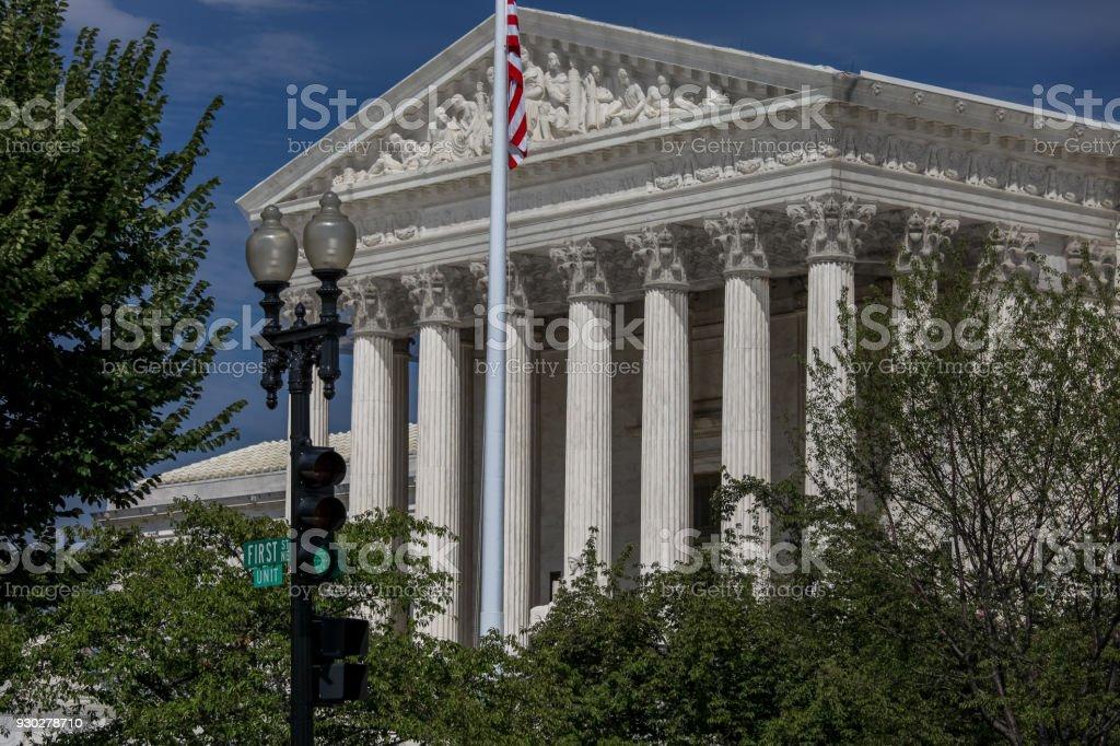 Supreme Court of the United States in Washington, DC stock photo