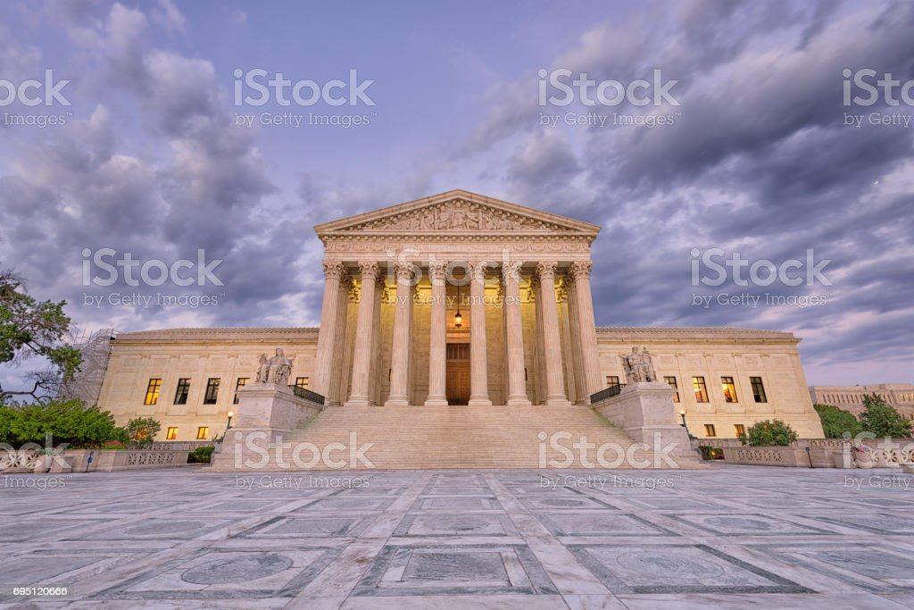 Supreme Court of the United States of American stock photo