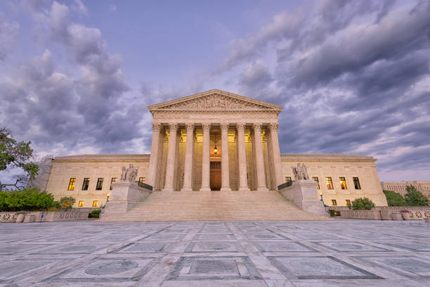Supreme Court of the United States of American United States Supreme Court Building in Washington DC, USA. us supreme court building stock pictures, royalty-free photos & images