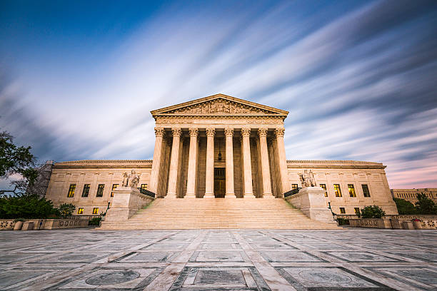 Supreme Court of the United States United States Supreme Court Building in Washington DC, USA. us supreme court building stock pictures, royalty-free photos & images