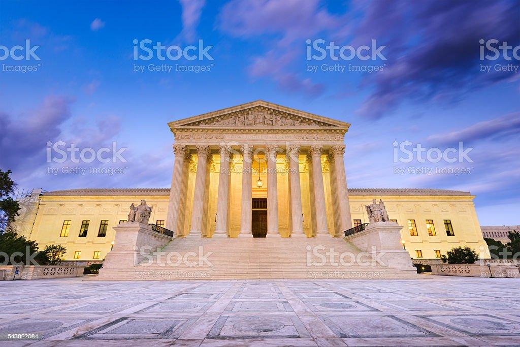 Supreme Court of the United States United States Supreme Court Building in Washington DC, USA. Architectural Column Stock Photo