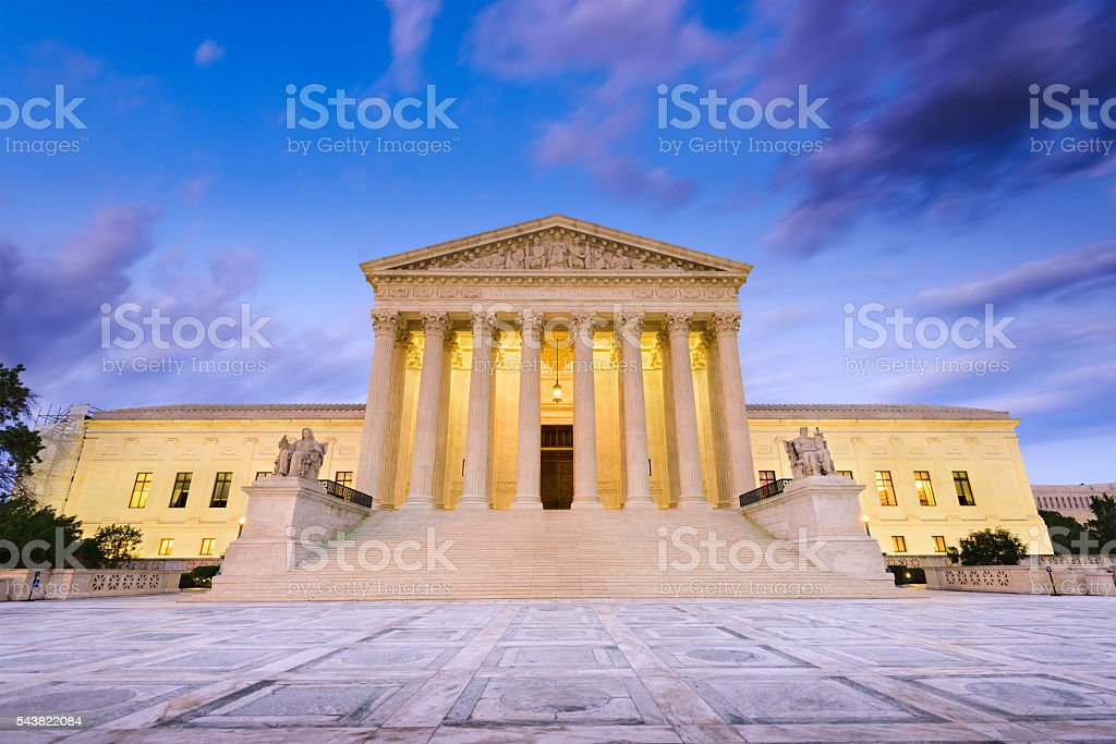 Supreme Court of the United States stock photo
