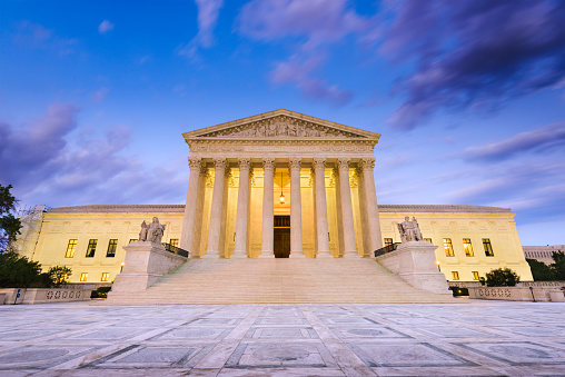 Supreme Court Of The United States Stock Photo - Download Image Now