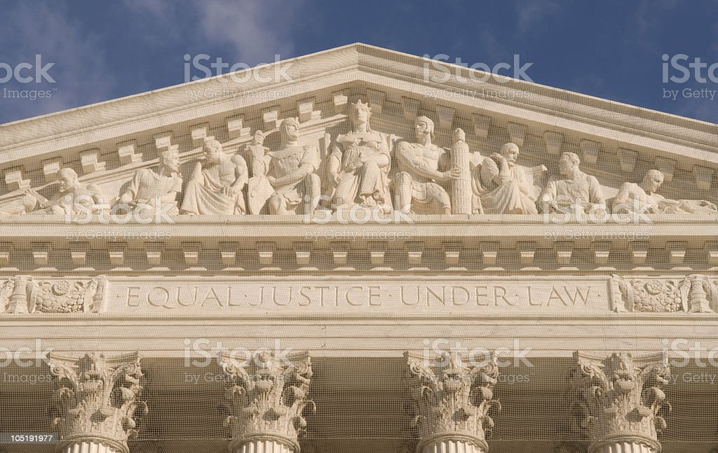 Supreme Court of the USA stock photo