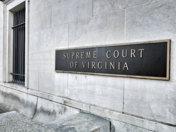 Supreme Court of Virginia Building Sign, Richmond stock photo