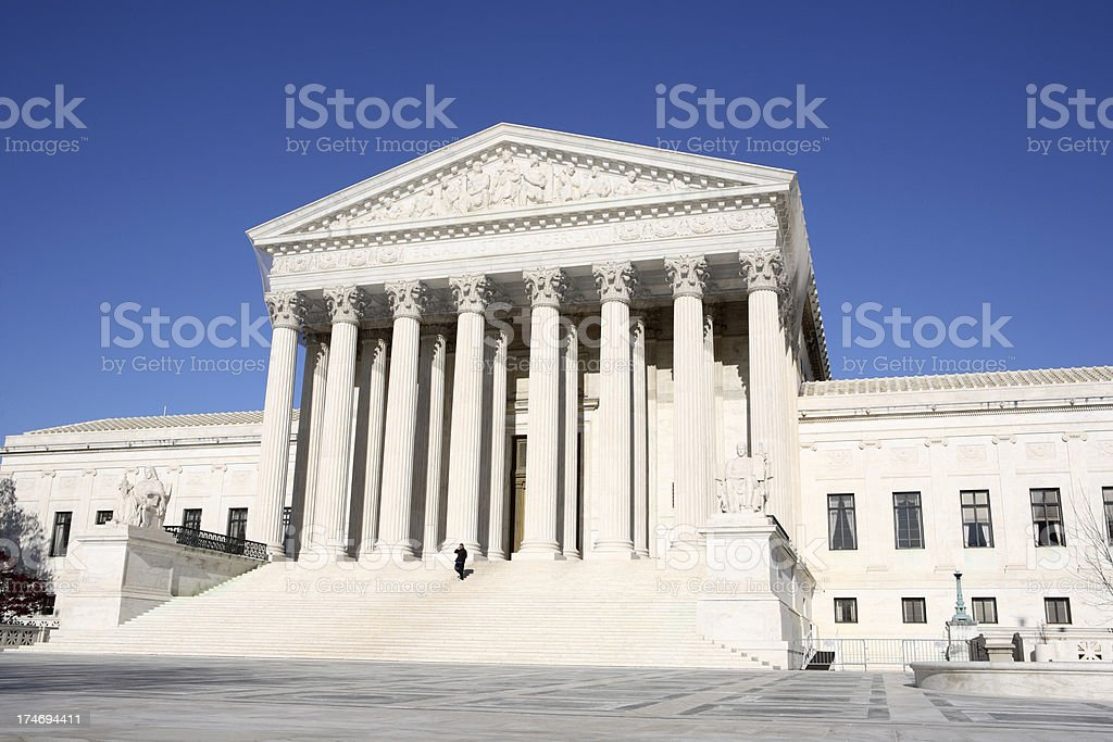 Supreme court royalty-free stock photo