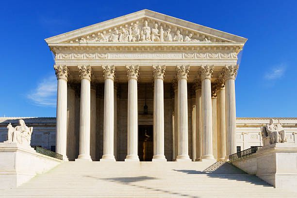 US Supreme Court The United States Supreme Court building. greco roman style stock pictures, royalty-free photos & images
