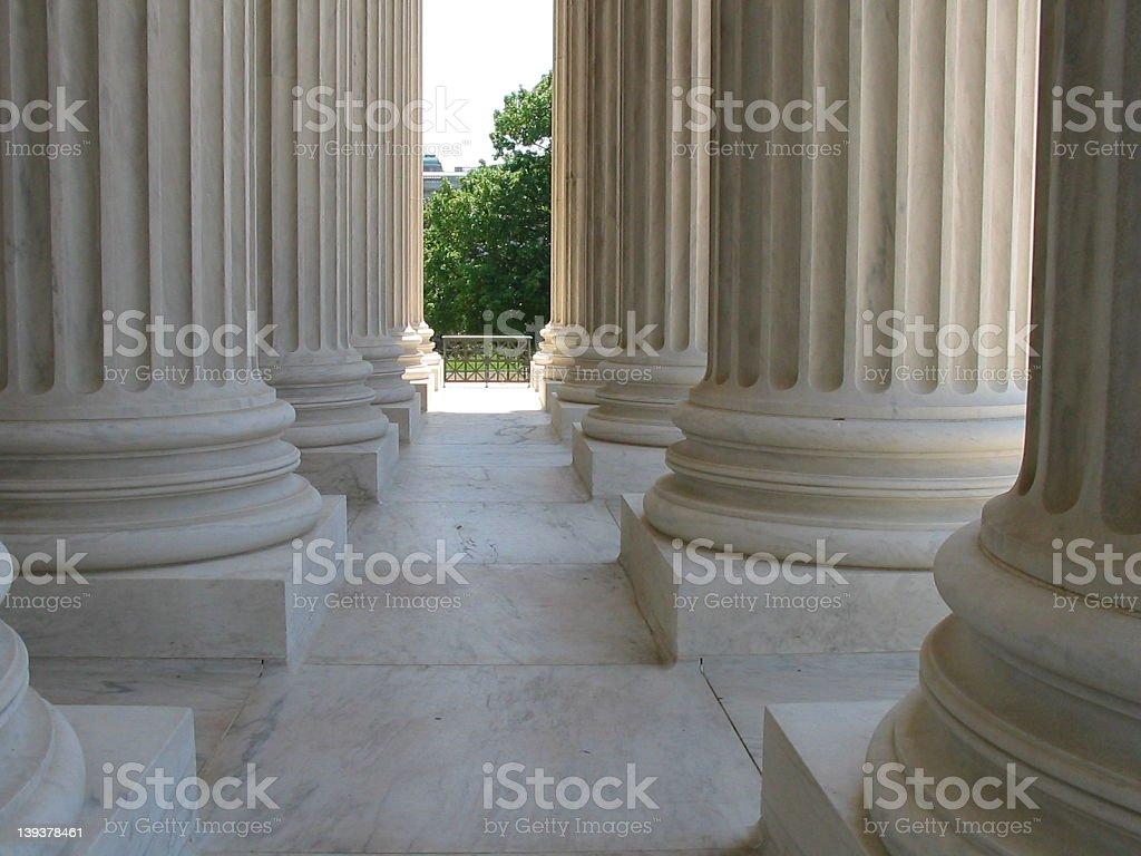 Supreme Court Pillars royalty-free stock photo