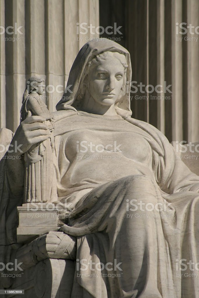 Supreme Court Statue royalty-free stock photo