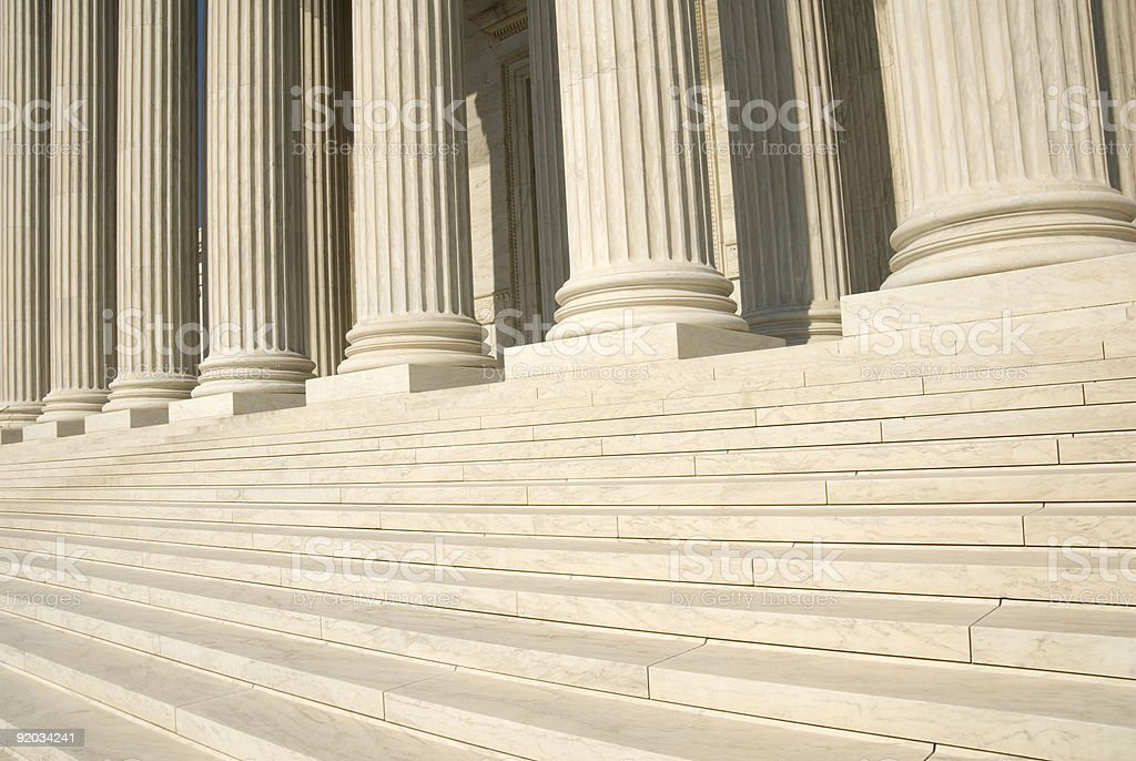 US Supreme Court - Steps and Columns stock photo