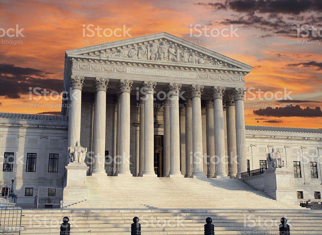 Supreme Court Sunrise royalty-free stock photo