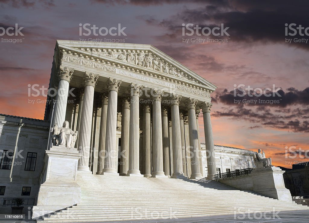 Sąd Najwyższy Washington DC Dawn niebo – zdjęcie