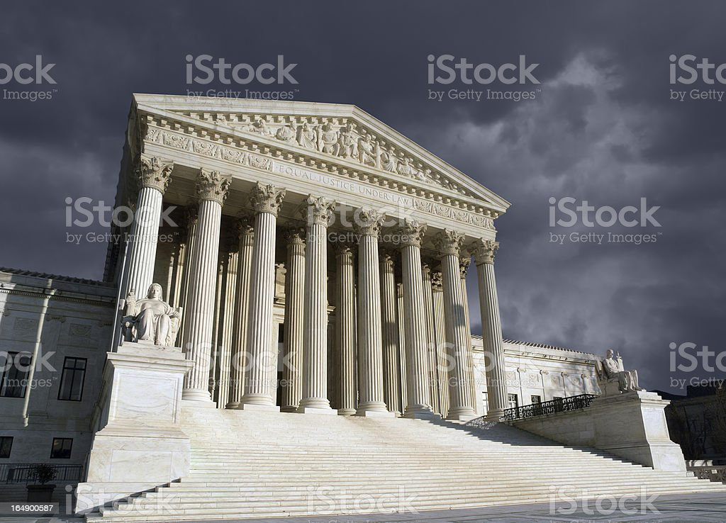 Supreme Court Washington DC Storm stock photo