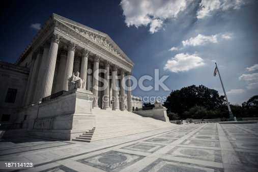 supreme court. Shot with a polarized filter .