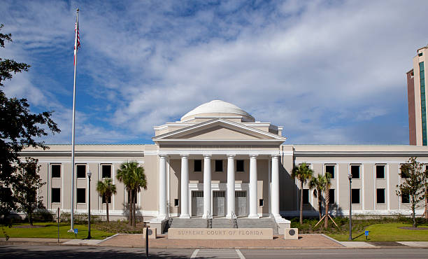 Supreme courthouse in Tallahassee, Florida stock photo