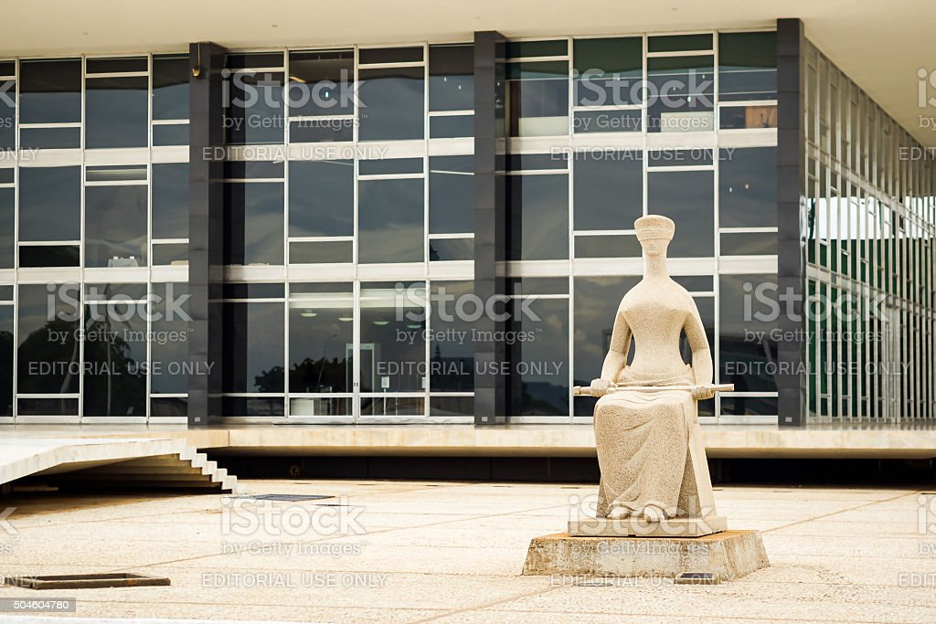 Supremo Tribunal Federal Building in Brasilia, Capital of Brazil stock photo