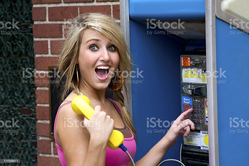 suprise call royalty-free stock photo