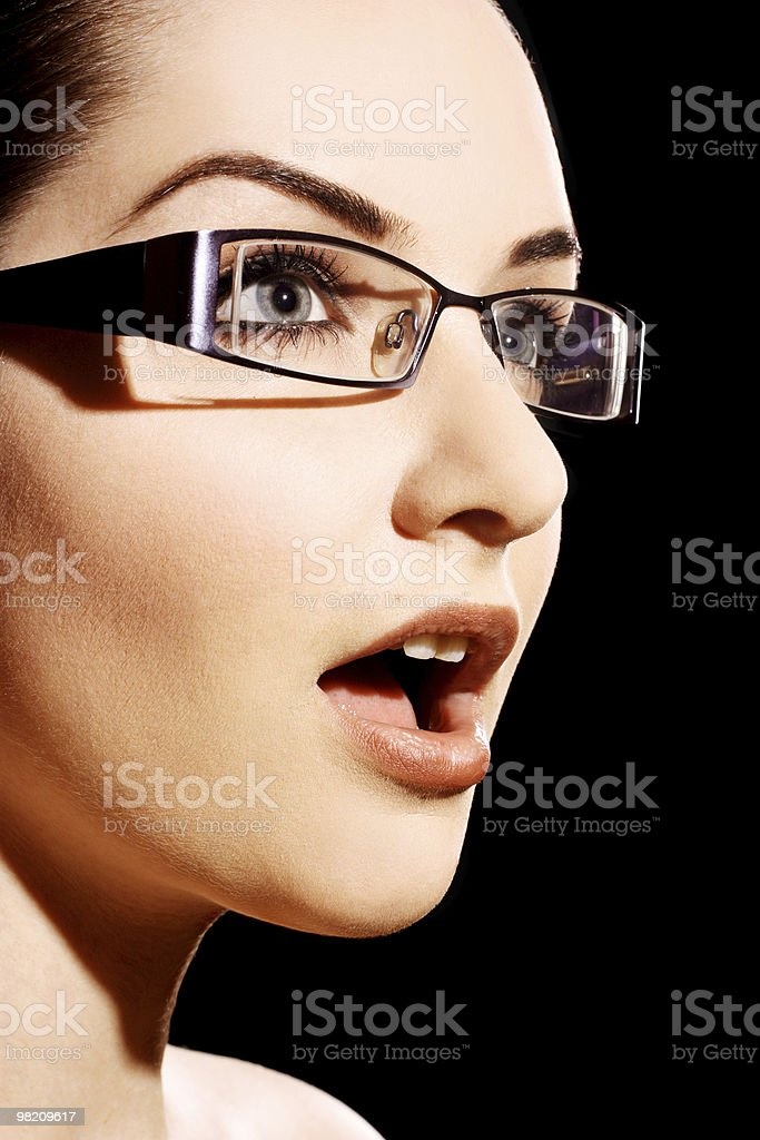 Suprised Woman royalty-free stock photo