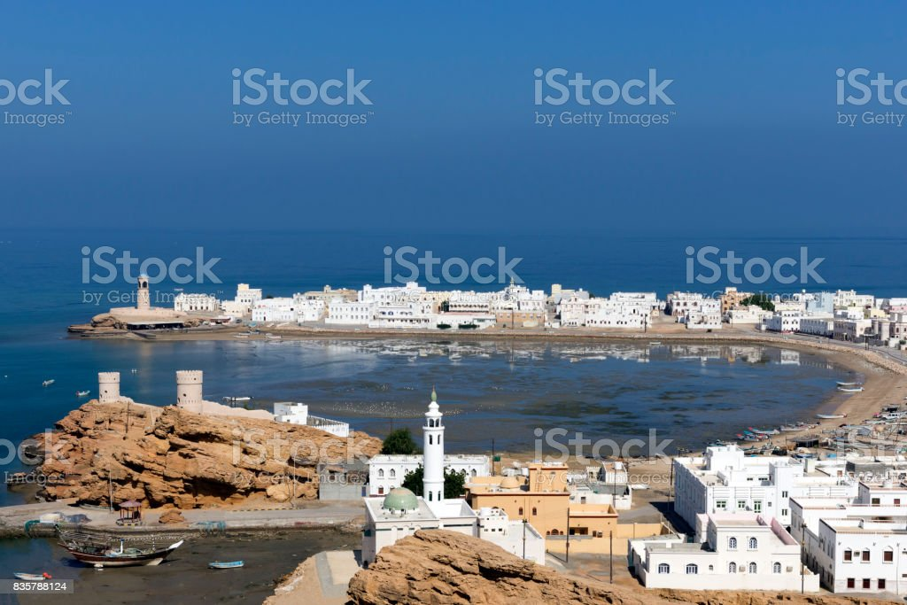 Sur town near Muscat, Oman stock photo