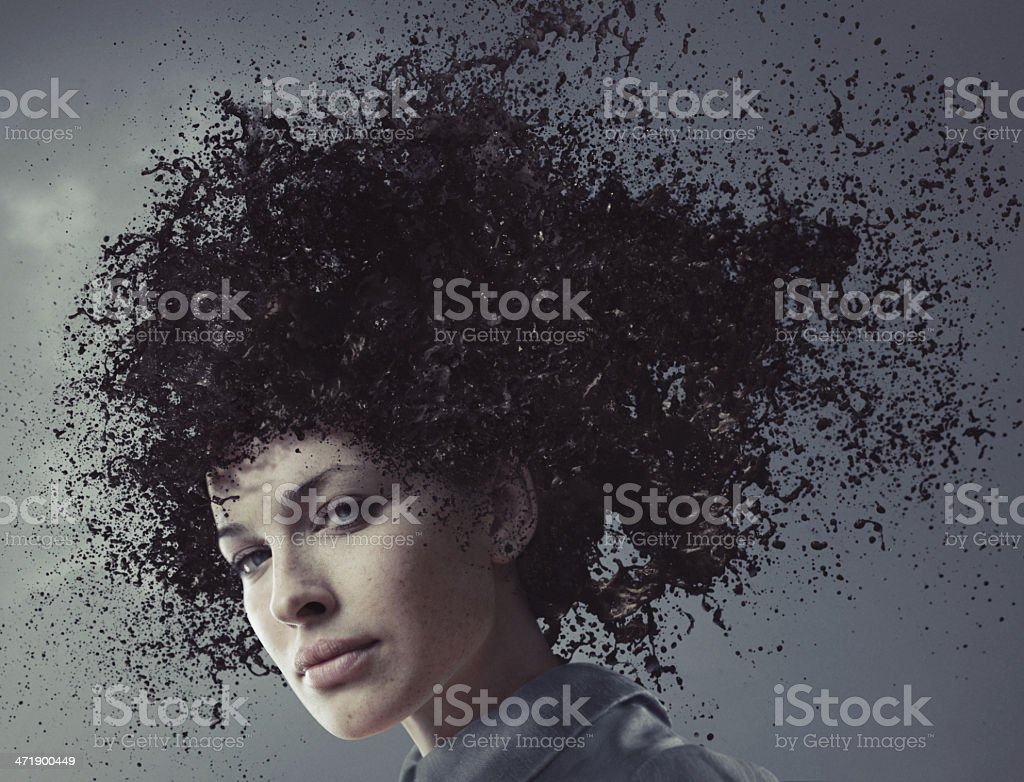 Sureal hairstyle stock photo