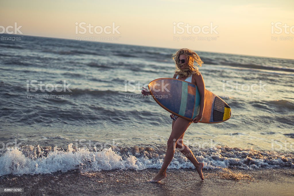 Surf and have fun stock photo