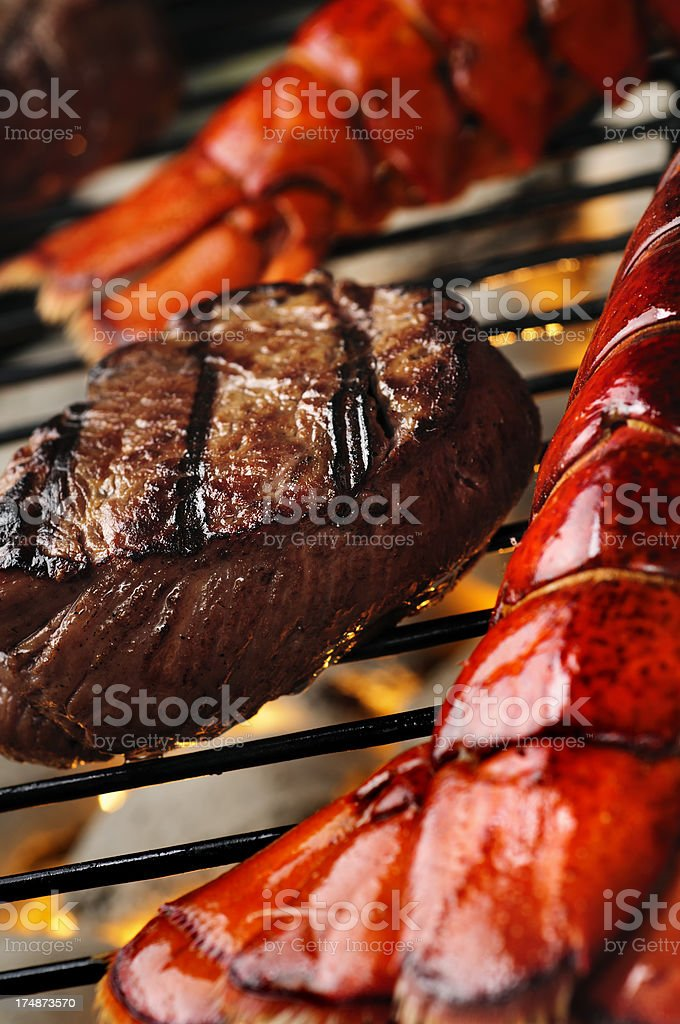 Surf and Turf stock photo