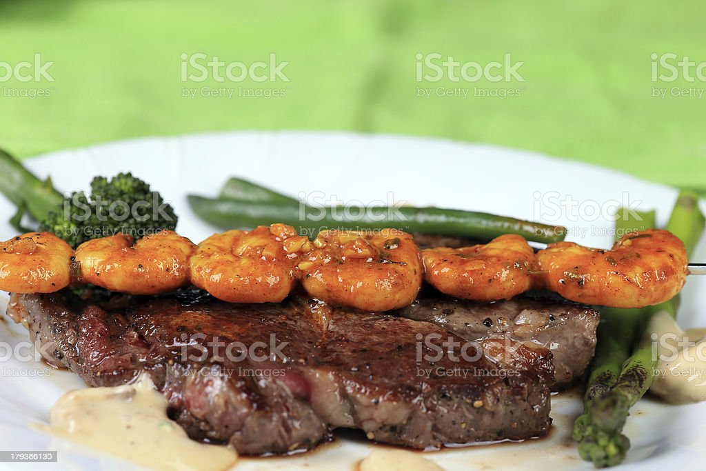Surf and Turf royalty-free stock photo