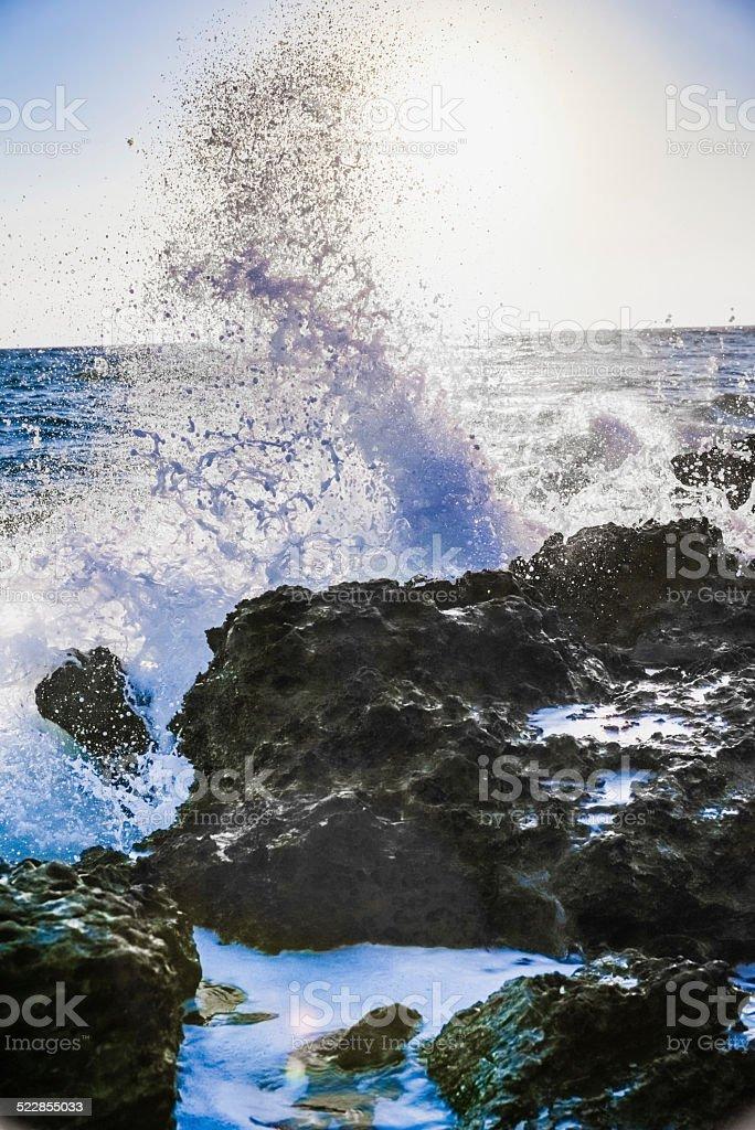 surf at dawn stock photo